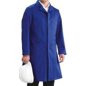 Bata azul marino en gabardina 100% UNISEX - cessacomercializadora.com