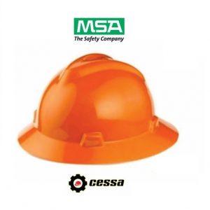 Casco MSA V-GARD tipo ala ancha naranja