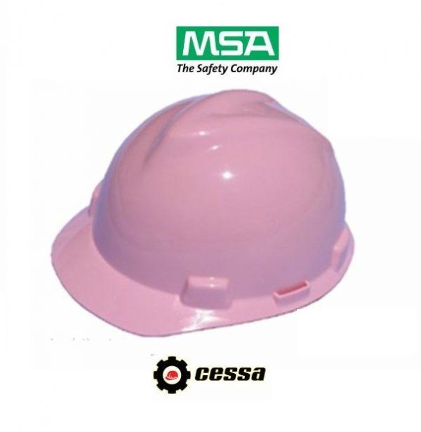 Casco MSA V-GARD tipo cachucha rosa