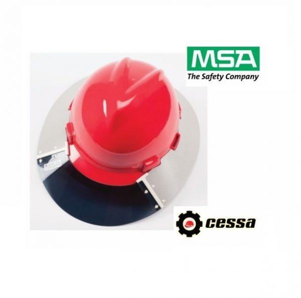 Protector solar de poliuterano para casco V-GARD MSA cachucha