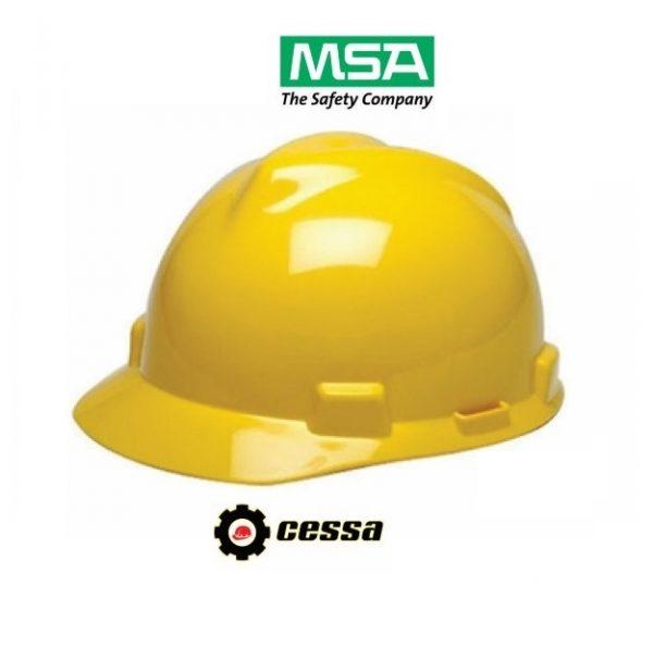 Casco MSA V-GARD tipo cachucha amarillo