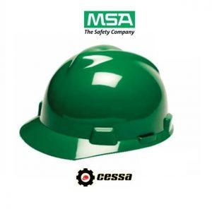 Casco MSA V-GARD tipo cachucha verde