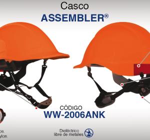 Casco Assembler Naranja con Suspensión Textil Dielectrico