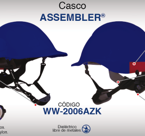 Casco Assembler Azul con Suspensión Textil Dielectrico