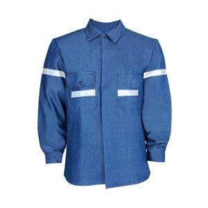 Camisola para caballero de mezclilla 14oz con cinta reflejante - CessaComercializadora.com