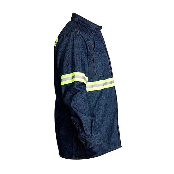 Camisola de mezclilla industrial para caballero con cinta reflejante - cessacomercializadora.com
