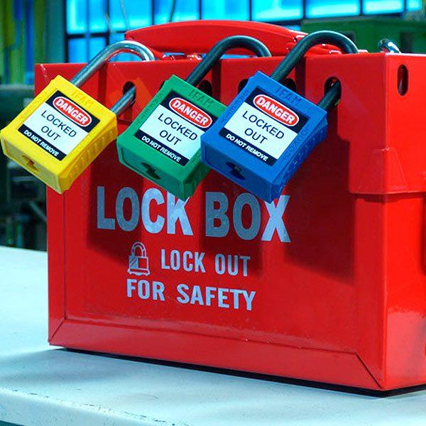 Caja de bloqueo 12 candados - LOTO - IFAM - Cessa Comercializadora