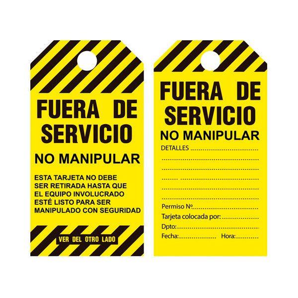 Etiqueta amarilla - Fuera de servicio - Modelo 648783 - LOTO - IFAM - Cessa Comercializadora