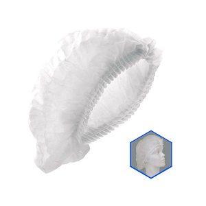 JYR-1521M Cofia blanca plisada - Cessa Comercializadora
