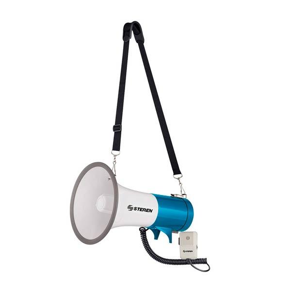 Megáfono de 25 W con micrófono tipo cv para hombro - Cessa Comercializadora